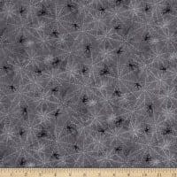 Wilmington Frightful Night Spider Webs Charcoal