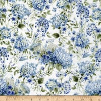 Wilmington Bohemian Blue Packed Floral Cream