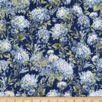 Wilmington Bohemian Blue Packed Floral Blue