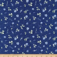 Wilmington Bohemian Blue Small Floral Toss Blue