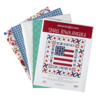 Maywood Studio Red, White & Bloom Small Town America Quilt Kit Multi