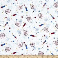 Maywood Studio Red, White & Bloom Fireworks White