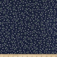 Maywood Studio Red, White & Bloom Mini Flowers Navy