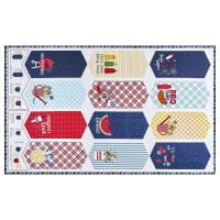 "Maywood Studio Red, White & Bloom Red, White & Blue Pennant 27"" Panel Multi"