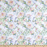 In The Beginning Fabrics Patricia Large Roses Soft Multi
