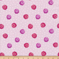 Lewis & Irene Love Blooms Dahlia & Hearts Pale Pink