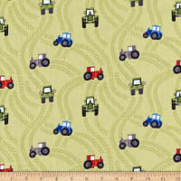 Lewis & Irene Piggy Tales Tractor Trails Green