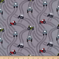 Lewis & Irene Piggy Tales Tractor Trails Muddy Grey
