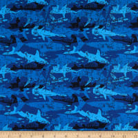 Cotton Camo Shark Royal