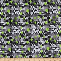 Cotton Abstract Grunge Lime