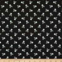 Cotton Skull Crossbone Black
