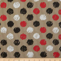 Cotton Print Multi Dots Red Black