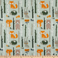 Cotton Print Forest Grey