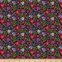 Camelot Eternally Yours Paisley Hearts Black