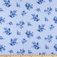Maywood Studio Silver Jubilee Spaced Floral Blue