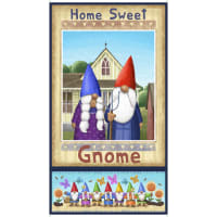 "QT Fabrics Home Sweet Gnome 24"" Panel Multi"