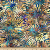 QT Fabrics QTique Tropicalia Large Floral Blue/Cream