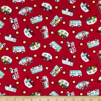 Roamin' Holiday Tossed Camper Red