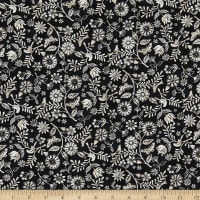 Le Poulet Small Wildflower Allover Black