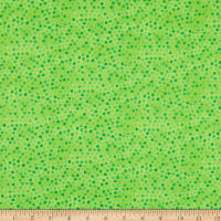 Whimsy Daisical Small Dots Green