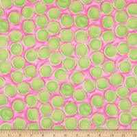 Whimsy Daisical Large Dots Green