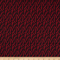 Red Alert Dotted Stems Black