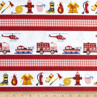 Everyday Heroes Firefighter Stripe Red