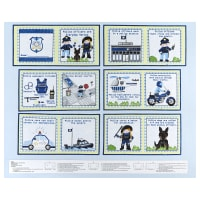 """Everyday Heroes Police Book Project 36"""" Panel Light Blue"""
