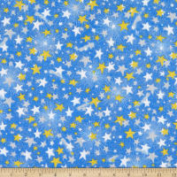 Comfy Flannel Print Shooting Stars Blue