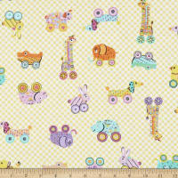 Comfy Flannel Print Baby Toys Yellow