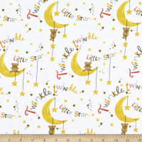 Comfy Flannel Print Nursery Rhyme Print White