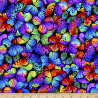 Timeless Treasures Butterfly Magic Packed Butterflies Multi