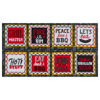 "Henry Glass Peace, Love & BBQ Block 24"" Panel Multi"