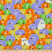 Henry Glass Glow In The Dark Glow Ghosts Stacked Pumpkins & Ghosts Multi
