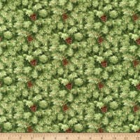 Henry Glass Holiday Botanical Packed Pine Branches Green