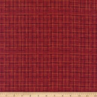 Primitive Plaids Abstract Plaid Red