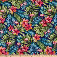 Trans-Pacific Textiles Tropic Flamingos Purple