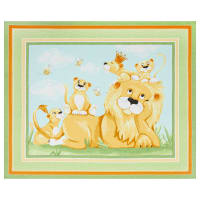 "Susybee Lyon the Lion 36"" Play Mat Panel Green"