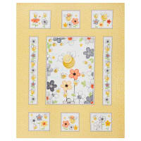 "Susybee Sweet Bees 36"" Panel Yellow"