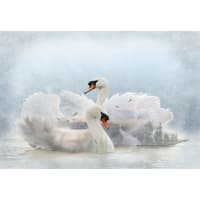 "Hoffman Digital Call Of The Wild Swan 30"" Panel Lake"