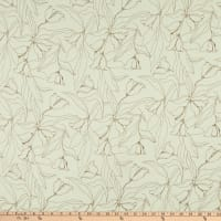 Fabric Merchants Margaret Rayon Challis Floral Stencil Cream/Brown