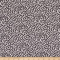 Fabric Merchants Margaret Rayon Challis Mini Leaves White/Black
