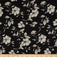 Telio Dolly Chiffon Print Floral Black