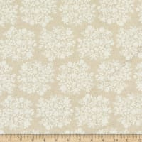 Kaufman Sevenberry Cotton Flax Prints Small Flowers Natural