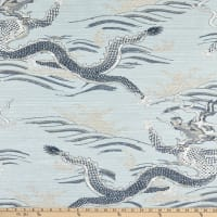 Fergy Dragon Print Woven Mineral