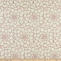 Calista Succulent Embroidered Woven Coral