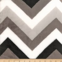 Coral Fleece Chevron Black