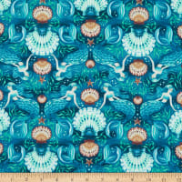 Oh Crab-Misty Blue-Beach-by Dear Stella Designs-Mariners Coastal-100 Percent Cotton-Quilting Cotton-DS1649-Cut to size