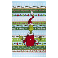 """Kaufman How The Grinch Stole Christmas Stripe 24"""" Panel Holiday"""