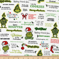 Kaufman How The Grinch Stole Christmas Letters Holiday